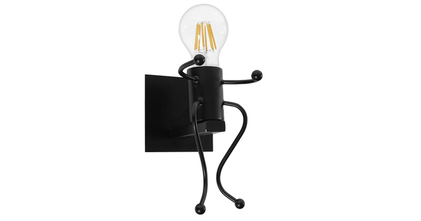 Μοντέρνο Φωτιστικό Τοίχου Απλίκα Μονόφωτο Μαύρο Μεταλλικό GloboStar JOYCE 01388