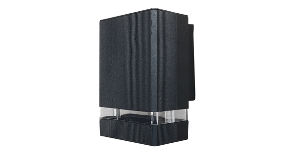 Φωτιστικό Τοίχου Quatro Μαύρο Ματ Αλουμινίου IP65 Down Gu10  90045