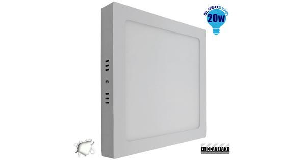Πάνελ PL LED Οροφής Εξωτερικό Τετράγωνο 20 Watt 230v Ημέρας  01888