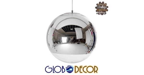 Μοντέρνο Κρεμαστό Φωτιστικό Οροφής Μονόφωτο Γυάλινο Νίκελ Φ30  GLANS 01312