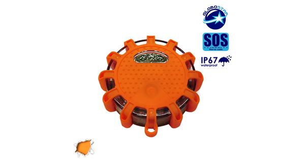 Αδιάβροχος Φάρος LED Μπαταρίας Έκτακτης Οδικής Ανάγκης με Μαγνήτη και Φακό  32200