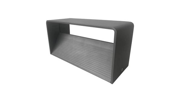 LED Φωτιστικό Τοίχου Απλίκα Αρχιτεκτονικού Φωτισμού Γκρι IP54 10 Watt CREE Θερμό Λευκό GloboStar 93058