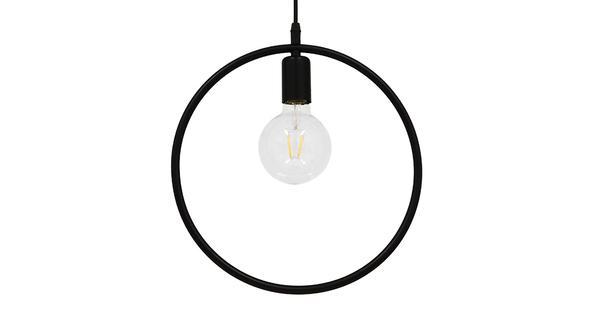Μοντέρνο Κρεμαστό Φωτιστικό Οροφής Μονόφωτο Μαύρο Μεταλλικό Φ33  OMICRON BLACK 01578
