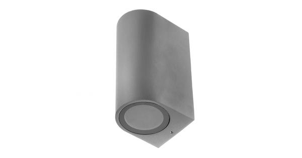 LED Φωτιστικό Τοίχου Αρχιτεκτονικού Φωτισμού Γκρι Up Down GU10 IP65  90093