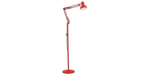 Μοντέρνο Φωτιστικό Δαπέδου Μονόφωτο Μεταλλικό Κόκκινο Φ15 GloboStar AUDREY RED 01470