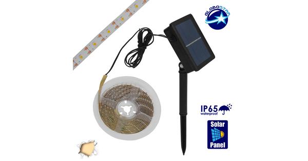 Αυτόνομο Ηλιακό Φωτοβολταϊκό Σετ με 3 Μέτρα Ταινία LED Θερμό Λευκό  07027
