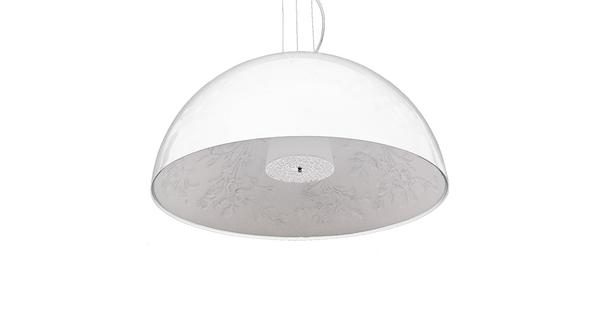Μοντέρνο Κρεμαστό Φωτιστικό Οροφής Μονόφωτο Λευκό Γύψινο Καμπάνα Φ90 GloboStar SERENIA WHITE 01273