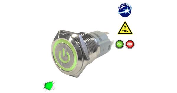 Διακοπτάκι LED ON/OFF 230 Volt Πράσινο  05055