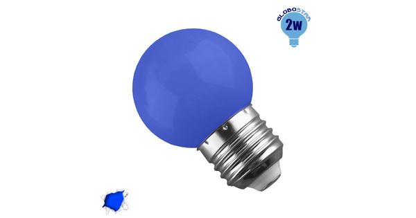 Mini Γλόμπος LED G45 2 Watt Μπλε  64006