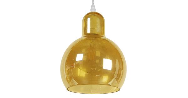 Μοντέρνο Κρεμαστό Φωτιστικό Οροφής Μονόφωτο Γυάλινο Μελί Διάφανο Φ18  LUNATICA 01315