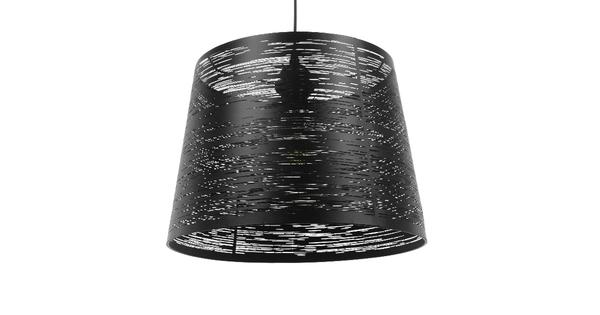 Μοντέρνο Industrial Κρεμαστό Φωτιστικό Οροφής Μονόφωτο Μεταλλικό Μαύρο Καμπάνα Φ35  ATLANTIS 01556