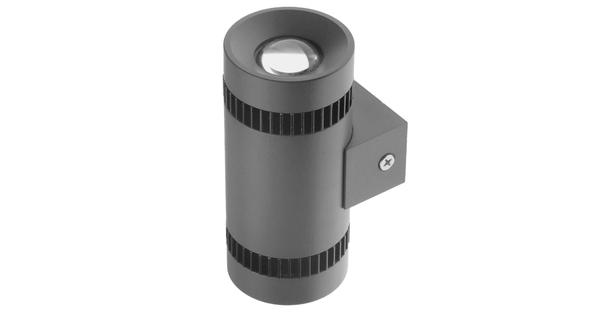 LED Φωτιστικό Τοίχου Αρχιτεκτονικού Φωτισμού Μονό Up Down Γκρι IP65 10 Watt CREE Θερμό Λευκό  93060