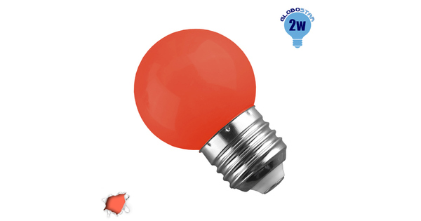 Mini Γλόμπος LED G45 2 Watt Πορτοκαλί Dark  64009