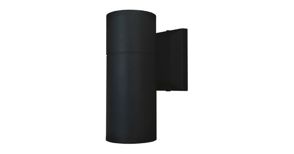 Φωτιστικό Τοίχου Wally Μαύρο Αλουμινίου IP65 Down Gu10 GloboStar 90061