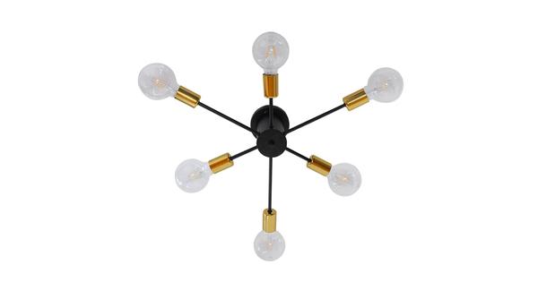 Μοντέρνο Industrial Φωτιστικό Οροφής Πολύφωτο Μαύρο Μεταλλικό Φ58  DAMASCO 01384