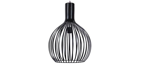 Μοντέρνο Κρεμαστό Φωτιστικό Οροφής Μονόφωτο Μαύρο Μεταλλικό Καμπάνα Φ38 GloboStar GOBLET DARK 01266