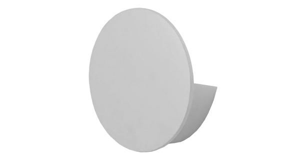 LED Φωτιστικό Τοίχου Απλίκα Αρχιτεκτονικού Φωτισμού Round Back Light Λευκό IP54 10 Watt CREE Θερμό Λευκό  93053