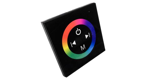 Touch Panel Τοίχου RGB Controller 12-24 Volt 144 Watt Black Body  77409