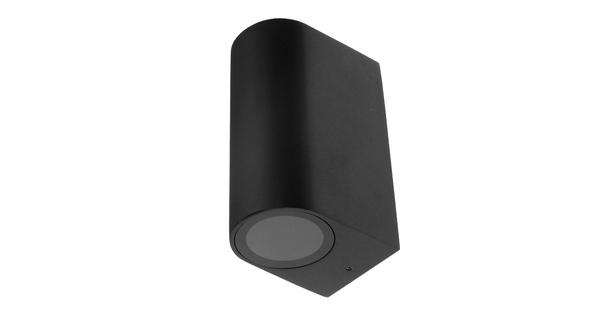 LED Φωτιστικό Τοίχου Αρχιτεκτονικού Φωτισμού Μαύρο Up Down GU10 IP65  90091
