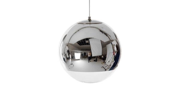 Μοντέρνο Κρεμαστό Φωτιστικό Οροφής Μονόφωτο Γυάλινο Νίκελ Φ15 GloboStar MIRAGE 01311