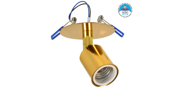SARA 00851 Μοντέρνο Χωνευτό Φωτιστικό Οροφής / Τοίχου Μονόφωτο 1xE27 Μεταλλικό Χρυσό Φ8 x Υ8.5cm