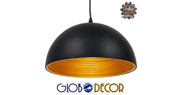 Μοντέρνο Κρεμαστό Φωτιστικό Οροφής Μονόφωτο Μαύρο Μεταλλικό Καμπάνα Φ30  CHIME BLACK 01004