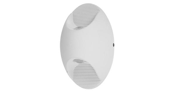 LED Φωτιστικό Τοίχου Αρχιτεκτονικού Φωτισμού Οβάλ Up Down Λευκό IP65 10 Watt CREE 24° 1400lm 230v Θερμό Λευκό GloboStar 96449