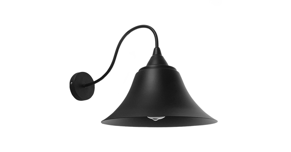 Vintage Industrial Φωτιστικό Τοίχου Απλίκα Μονόφωτο Μαύρο Καμπάνα Φ30  BELL 01038