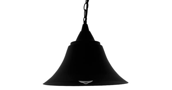 Vintage Industrial Κρεμαστό Φωτιστικό Οροφής Μονόφωτο Μαύρο Μεταλλικό Καμπάνα Φ29  CLOCHER 01041
