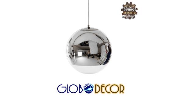 Μοντέρνο Κρεμαστό Φωτιστικό Οροφής Μονόφωτο Γυάλινο Νίκελ Φ15  MIRAGE 01311