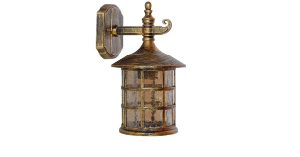 Vintage Industrial Φωτιστικό Τοίχου Απλίκα Μονόφωτο Mπρούτζινο Μεταλλικό Πλέγμα Φ17 GloboStar PHAROS 01228