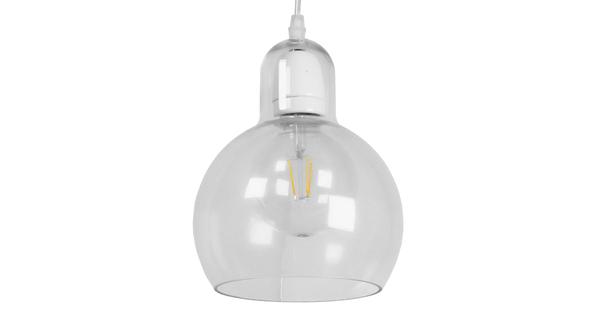 Μοντέρνο Κρεμαστό Φωτιστικό Οροφής Μονόφωτο Γυάλινο Διάφανο Φ18  LUCREZIA 01314