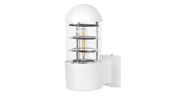 Μοντέρνο Φωτιστικό Τοίχου Απλίκα Μονόφωτο Λευκό Μεταλλικό  NEWI 01418