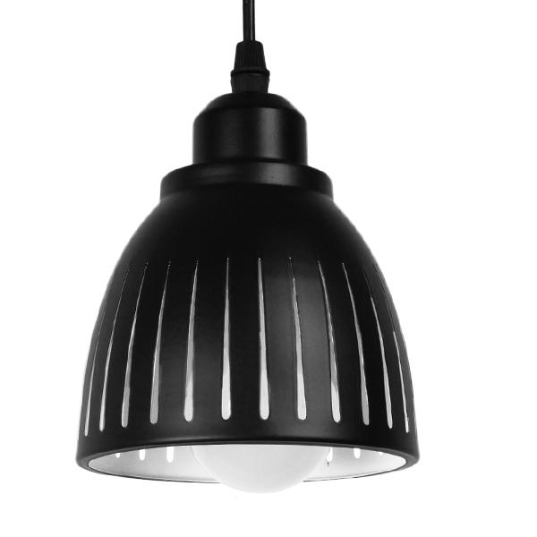 Μοντέρνο Κρεμαστό Φωτιστικό Οροφής Μονόφωτο Μεταλλικό Μαύρο Λευκό Καμπάνα Φ13 GloboStar CHERITH 01478