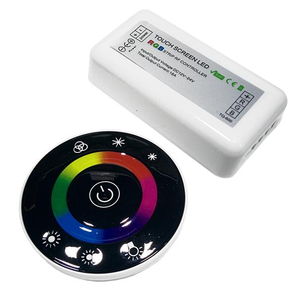 Controller RGB 2.4G Round 12-24 Volt DC Black Body GloboStar 77445
