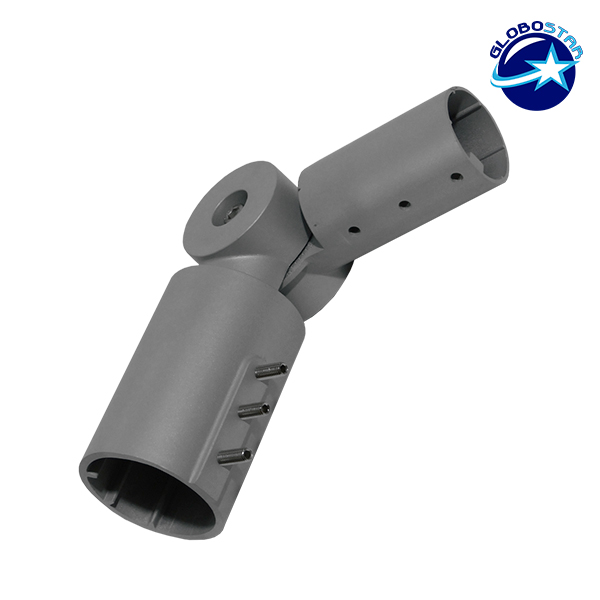 Μεταλλική Ρυθμιζόμενη Βάση για Φωτιστικό Δρόμου 30-90 Μοίρες GloboStar 08870