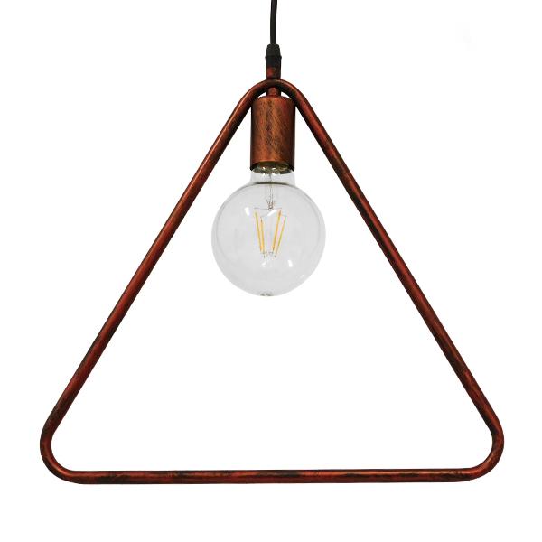 Μοντέρνο Κρεμαστό Φωτιστικό Οροφής Μονόφωτο Καφέ Σκουριά Μεταλλικό GloboStar DELTA IRON RUST 01581