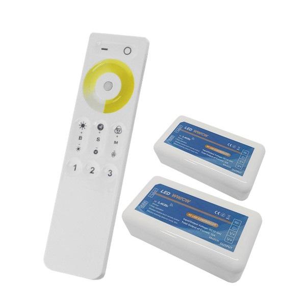 Σετ Ασύρματο RF 2.4G LED Dimmer Αφής 2 Χρωμάτων 12-24 Volt για Δυο Groups GloboStar 04140