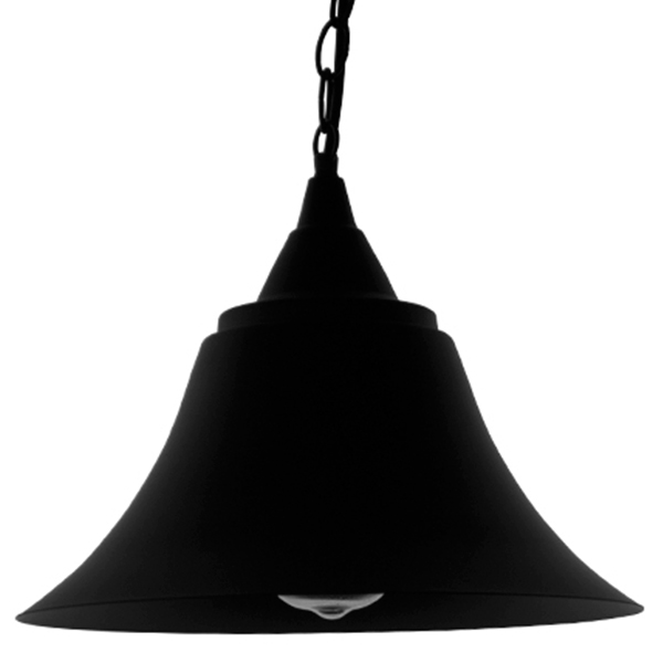 Vintage Industrial Κρεμαστό Φωτιστικό Οροφής Μονόφωτο Μαύρο Μεταλλικό Καμπάνα Φ29 GloboStar CLOCHER 01041