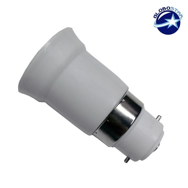 Πλαστικός Αντάπτορας από B22 σε E27 GloboStar 02227