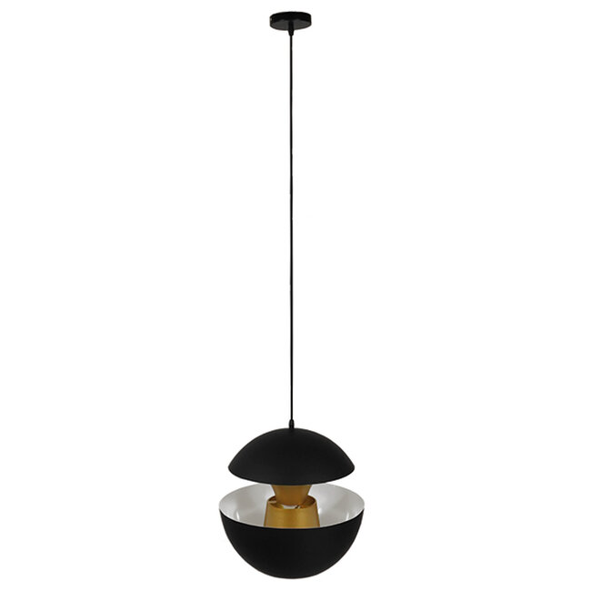 Μοντέρνο Κρεμαστό Φωτιστικό Οροφής Μονόφωτο Μαύρο Μεταλλικό Φ35  SEVILLE BLACK 01269 - 2