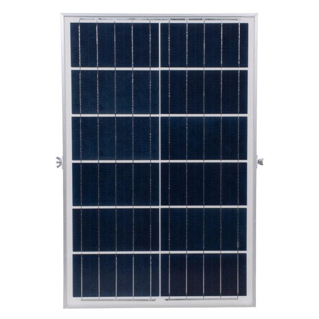 GloboStar® 71561 Αυτόνομος Ηλιακός Προβολέας LED SMD 200W 24000lm με Ενσωματωμένη Μπαταρία 20000mAh - Φωτοβολταϊκό Πάνελ με Αισθητήρα Ημέρας-Νύχτας και Ασύρματο Χειριστήριο RF 2.4Ghz Αδιάβροχος IP66 Ψυχρό Λευκό 6000K - 8