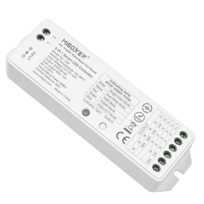 GloboStar® 73422 Ασύρματος RF 2.4Ghz LED RGBW + WW Smart Controller Mi-Light LS2 MiBOXER RF 2.4G DC 12-24V Max 360W - 2