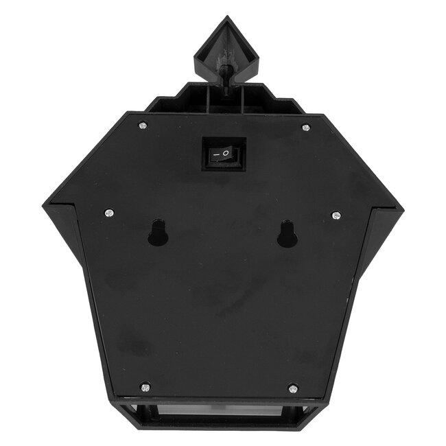 71494 Αυτόνομο Ηλιακό Φωτιστικό Τοίχου Μαύρο LED SMD 1W 100lm με Ενσωματωμένη Μπαταρία 600mAh - Φωτοβολταϊκό Πάνελ με Αισθητήρα Ημέρας-Νύχτας IP65 Ψυχρό Λευκό 6000K - 7