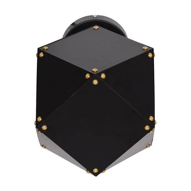 WELLES Replica 00794 Μοντέρνο Φωτιστικό Τοίχου Απλίκα Μονόφωτο Μεταλλικό Μαύρο Χρυσό Μ17 x Π28 x Υ17cm - 5