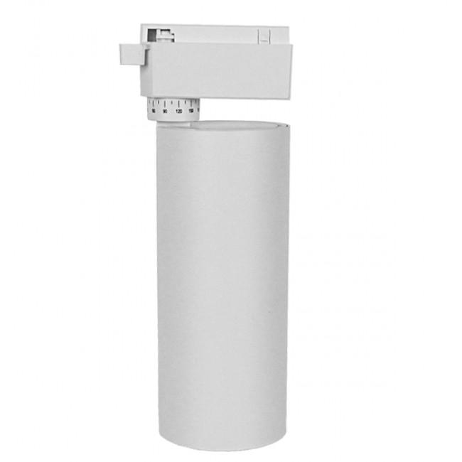 Μονοφασικό Bridgelux COB LED Λευκό Φωτιστικό Σποτ Ράγας 30W 230V 3750lm 30° Φυσικό Λευκό 4500k GloboStar 93109 - 2