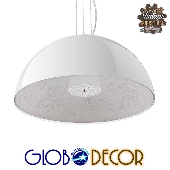 Μοντέρνο Κρεμαστό Φωτιστικό Οροφής Μονόφωτο Λευκό Γύψινο Καμπάνα Φ60  SERENIA WHITE 01271 - 1