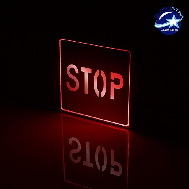 Φωτιστικό LED Σήμανσης Αλουμινίου Stop GloboStar 75512 - 2