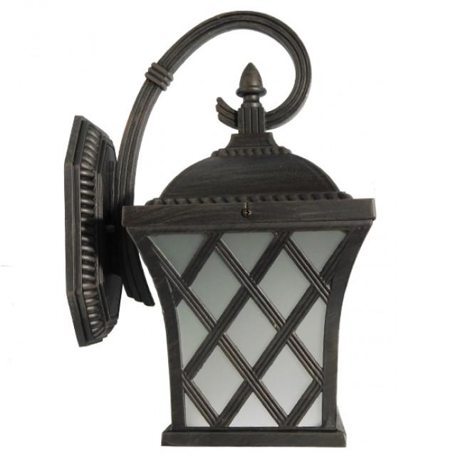 Vintage Φωτιστικό Τοίχου Απλίκα Μονόφωτο Μπρονζέ Μεταλλικό Πλέγμα GloboStar LELIA 01251 - 4