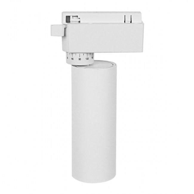 Μονοφασικό Bridgelux COB LED Λευκό Φωτιστικό Σποτ Ράγας 10W 230V 1250lm 30° Φυσικό Λευκό 4500k GloboStar 93091 - 2